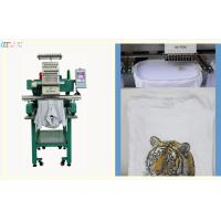 Commercial small flat bed Single Head Embroidery machine for Clothes T-shirt Manufactures