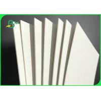 White Rigid Paper Board Strong Stiffness 1.5mm 1.6mm For Luxury Packaging Boxes Manufactures