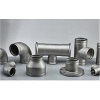 Stainless Steel Grooved Pipe Fittings With Sandblasting / Polishing Surface Treatment Manufactures