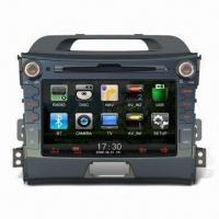 Buy cheap In-dash DVD Player for Kia, Ideal for Apple's iPod/iPhone/iPad, with Bluetooth from wholesalers