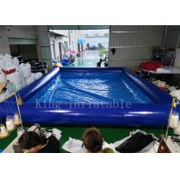 Blue Color 42 Square Meters Inflatable Swimming Water Pool Fire Resistant Manufactures