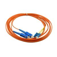Quality LC Duplex Multimode Fiber Optic Patch Cord with 3.0 fiber optic cable for sale