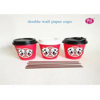 China Food Grade Take Away Flexo Print Custom Printed Paper Cups 4oz - 24oz With Lids on sale