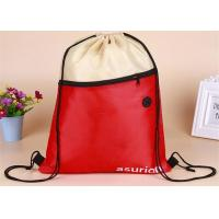 Promotional Printed Drawstring Bags Waterproof Sports Type Polyester With Logo Manufactures