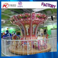 High quality luxury coin operated kids Merry-go-round carousel for sale 16 seats Manufactures