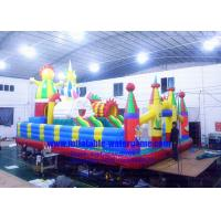 China Heavy Duty Inflatable Theme Park Durable Safety Customized Logo / Banner on sale
