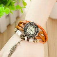 China Leaf Pendant Antique Gift Watch With Long Strap and Metal Case on sale