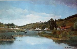 Quality Impressionist(3830) The_Banks_of_the_Marne_at_Chennevieres for sale