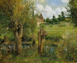 Quality Impressionist(3830) The_Banks_of_the_Epte_at_Eragny for sale
