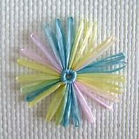 Flower & Bow variegated daisy 8cm Manufactures