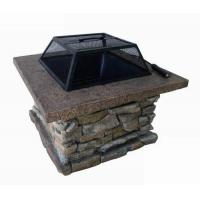 Gifts & Crafts Fire Pit - Square Stacked Stone Fire Pit - Square Stacked Stone Manufactures