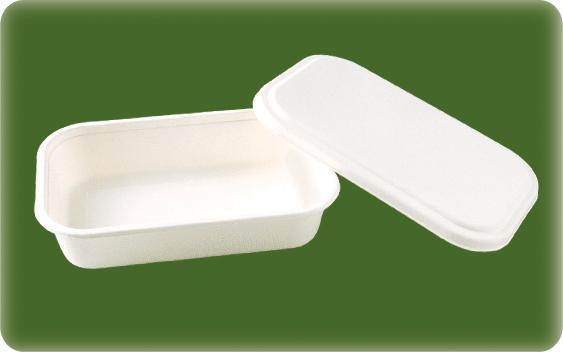 Quality Bagasse Food Container 400ml Food Box for In-flight Meal for sale