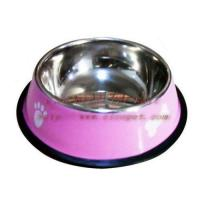 7 inch yellow colored dog bowl 001C-18 Manufactures