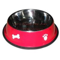 11 4/5 inch green colored dog dish 001C-30 Manufactures