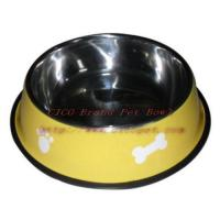 13 inch pink colored dog bowl 001C-34 Manufactures