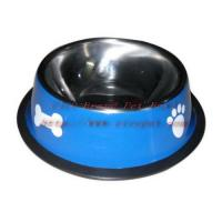 8.5 inch red colored pet feeder 001C-22 Manufactures