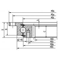 Four point contact ball slewing bearing (with outer flange and internal gear type)