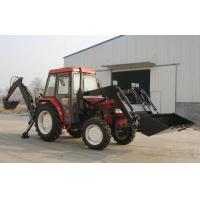 4WD Tractor With Front loader and back hoe Manufactures