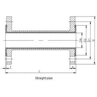 Fluorin lined direct pipe Lined pipe fittings--straight pipe, converging tube Manufactures