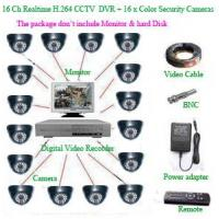 CCTV PRODUCTS 16Ch Realtime H.264 Network CCTV DVR+ 16 x Color dome Security Camera Manufactures