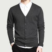 Formal Cotton V Neck Cardigan High Quality Soft Handfeel Knitwear Men Manufactures