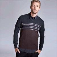Latest Stripes Jacquard Sweater Warm Soft V Neck Casual Jumper Men Manufactures