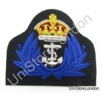 Badge Naval Kings Crown Gold Wire Blue wreath WRENS Cap Badge WW2 Style R894 Manufactures