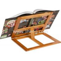 All Natural Bamboo Cookbook Holder With 4 Adjustment Settings