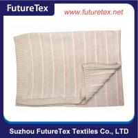 China Children Sleep Kids Knitted Baby Cotton Blanket SZFT07-021-N on sale