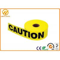 Custom Print Police Safety Warning Tape , PE Black and Yellow Warning Stripes