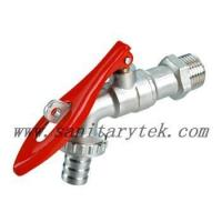 Buy cheap Code: V26-006A Ball hose bibcock with lockpad eye,red steel handle from wholesalers