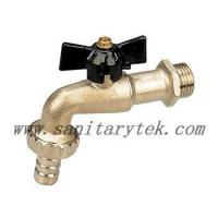 Buy cheap Code: V26-002 Ball bibcock with hose connection, black T handle from wholesalers