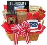 All American Gift Basket with Book and Snacks Manufactures