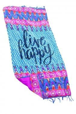 Quality Live Happy Beach Towel Blankets LC42112-22 for sale