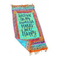 Beach Towel Sunshine On My Shoulders Makes Me Happy LC42113-22 Manufactures