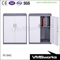 Cheap Half Height Sliding Door Metal Office Storage Cabinets for sale