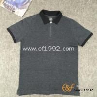 China Polo Collar Short Sleeves Men Sweater with Zipper on sale