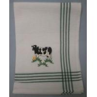 Embroidered Cow Tea Towel Manufactures