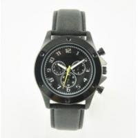 10ATM Water Resistant Leather Strap Stainless Steel Black Watch Manufactures