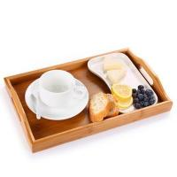 Factory Made LFGB Certificated Bamboo Serving Tray Natural