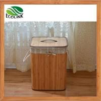 Foldable Bamboo Laundry Basket Hamper with Lid and Liner Manufactures