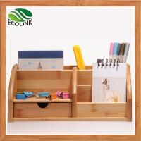 Eco-friendly Bamboo Space Saving Desk Storage Caddy Organizer Accessories Manufactures