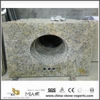 DIY Discount Wholesale Brazil Gold Granite Bathroom Vanity Tops with Cheap Prices Manufactures