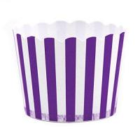 Dress My Cupcake Striped Party Candy Cups,Set Of 24, Purple Manufactures