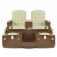 Buy cheap china Brown color Mfc pedicure chair BPB-002 from wholesalers