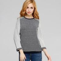 Latest Combed Cotton Jacquard Sweater Computer Knit Pullover for Women Manufactures