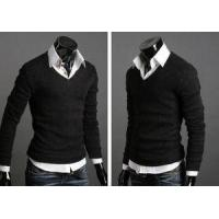Classic Formal V Neck Sweater High Quality Long Sleeve Pullover Men Manufactures