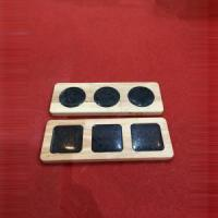 Buy cheap Black Marble Stone + Wood Cheese Board Set from wholesalers