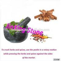 China Natural Stone Mortar with Pestle Black Granite Mortar and Pestle on sale