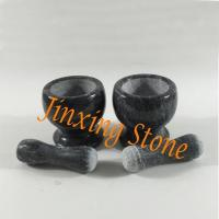 Hot Sale Black Marble Mortar and Pestle Set Herbs&Spices Grinder Kitchen Tool Manufactures